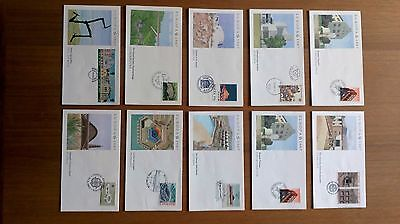 job lot - 10 first day covers