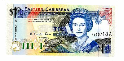 East Caribbean States ... P-27a ... 10 Dollars ... ND(1993) ... *UNC*