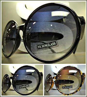 OVERSIZE EXAGGERATED VINTAGE RETRO Style SUN GLASSES Huge XL Round Fashion Frame