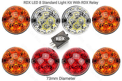 RDX LED Land Rover Defender 8 Standard Colour Light Kit with Relay