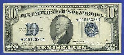 1934C $10 BEAUTIFUL SILVER CERTIFICATE *STAR*Note!