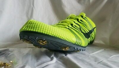 Nike Zoom Victory 2 Track Spikes Shoes Size 12.5 Volt/ Black 555365 707