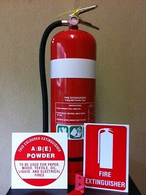 """2 x """"NEW"""" 9.0kg Dry Chemical Powder Fire Extinguisher (Free Delivery Melb CBD)"""