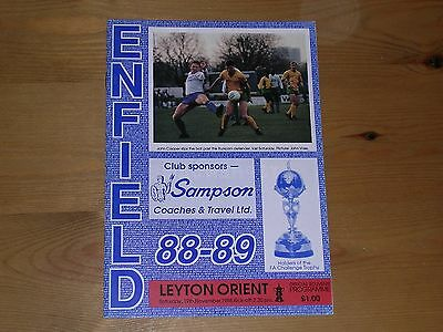 1988/89  ENFIELD v LEYTON ORIENT  F.A.CUP 1ST ROUND  19/11/1988