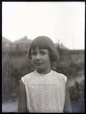 1930's CHILDHOOD YOUNG GIRL PHOTOGRAPHIC GLASS NEGATIVE