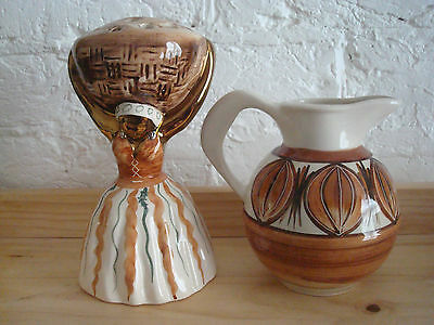Jersey Pottery Milk Jug And Flower Vase