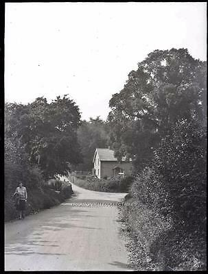 1930's WELL HILL CHELSFIELD NR HALSTEAD BROMLEY KENT UNPUBLISHED GLASS NEGATIVE