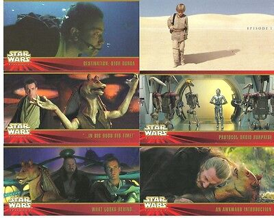 Star Wars Episode 1 Phantom Menace Widevision Card Set by Topps 1999 in Case Box