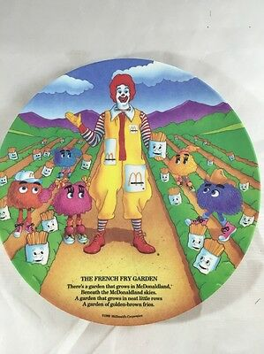 McDonalds Plate The French Fry Garden 1989 Vintage
