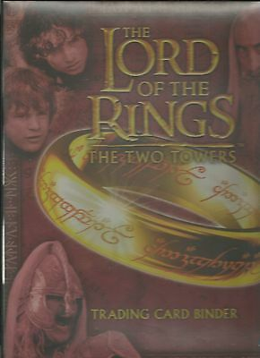 Lord of the Rings Two Towers TTT Trading Card Binder & 9 Card Binder Set B1 - B9