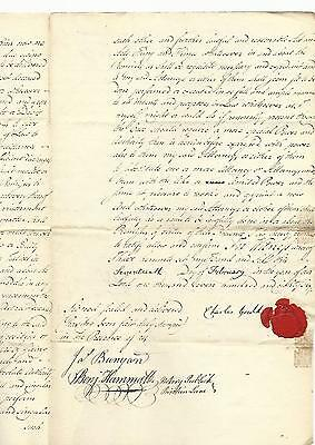 1786 Rare Ds James Duane As Mayor Of New York +++ Red Wax Seal