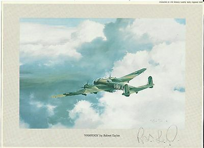 'Hampden' by Robert Taylor, print, ORIGINALLY SIGNED by RODERICK LEAROYD VC!