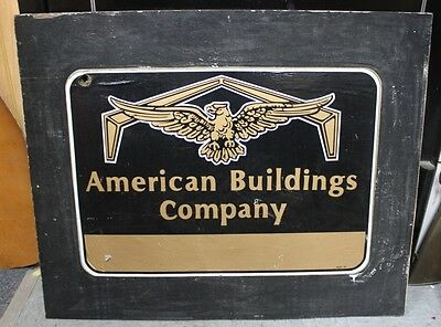 """American Building Company Plywood Sign 31 X 25"""""""