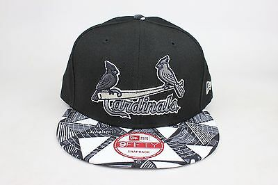 online store 02410 29c4a St Louis Cardinals Black   Tribal Print Lid   White Gray New Era 9Fifty  Snapback