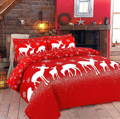 Duvet Quilt Cover with Pillow Case Bedding Set Size Double Design X-MAX STAG