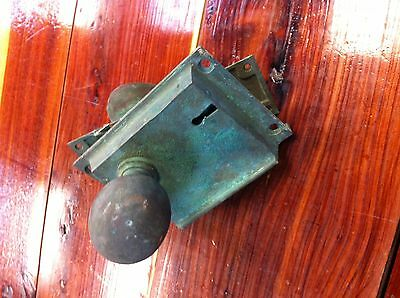Antique Copper Door knobs with lock case and face plate