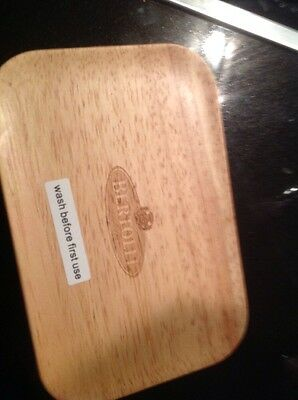 Bertolli Promotional Spread/butter Dish Brand New White With Wooden Lid Nice