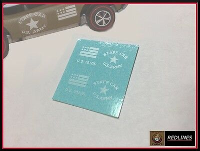 1976 Hot Wheels 'Staff Car' Reproduction Decal 9521