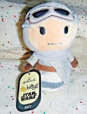 "Hallmark Disney Itty Bitty Bittys Star Wars REY 4.5"" The Force Awakens NWT"