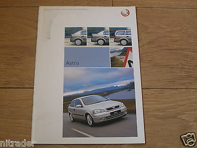 Vauxhall Astra Sales Brochure 2003 Edition 1