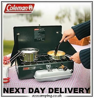 New 2017 Coleman 424 Dual Fuel Unleaded Petrol Double Two Burner Cooker Stove