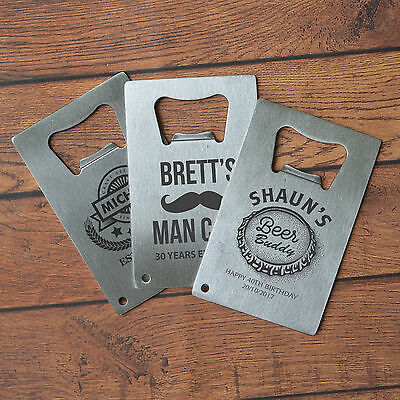 Engraved Birthday Credit Card Bottle Opener, Bar, Father, Present, Gift
