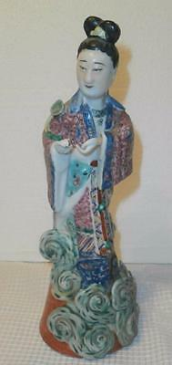 Antique Vtg Chinese Famille Rose Woman W Removable Hands Statue