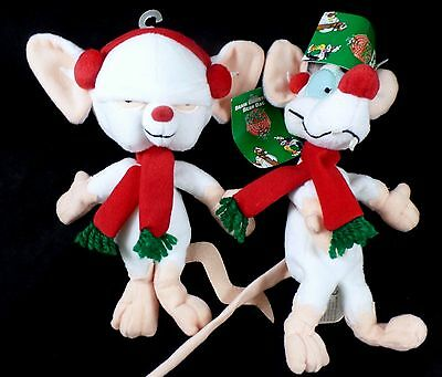 Pinky & Brain Beanies '98 Warner Brothers Store Looney Tunes w/tags Animaniacs