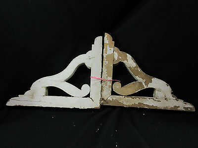 2 Large 1800's Architectural Salvage Corbels Chippy Shelf Brackets Nice!! Set A