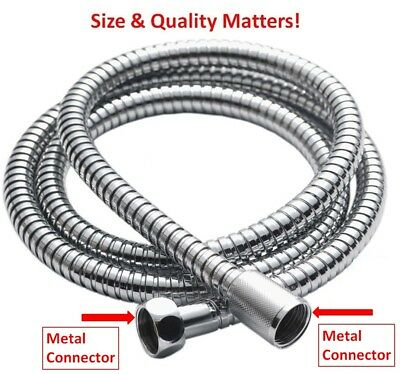 Shower Hose Pipe Stainless Steel 2.5M Chrome Flexible Bathroom Bath Washers