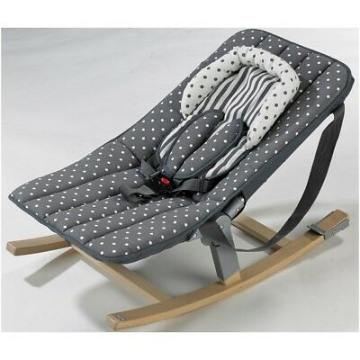 Geuther 4705-154 Baby-bouncer Rocco Design grey with polka dots - New