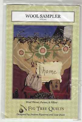 Wool Sampler Fig Tree Quilts Pattern Wool Throw Purses and Pillow