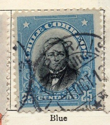 Chile 1911 Early Issue Fine Used 25c. 112810