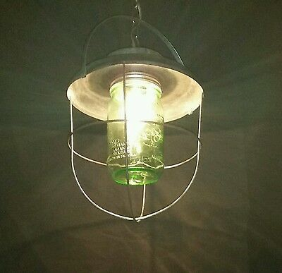 Vintage Industrial Pendant Light. Hand made, one of a kind. Rustic, steam punk.