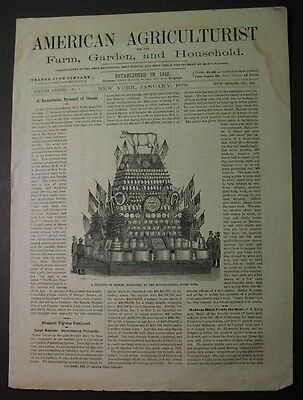 1879 - 1st CHEESE DAIRY FAIR, New York! - Thurber Bros. - illustrated article