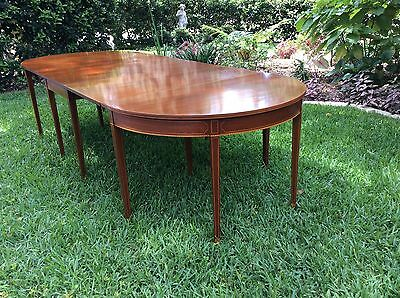 BIGGS Of Virginia Federal Sheraton Style Banquet DINING TABLE Inlaid Mahogany
