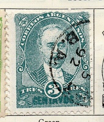 Argentine Republic 1888 Early Issue Fine Used 3c. 112937