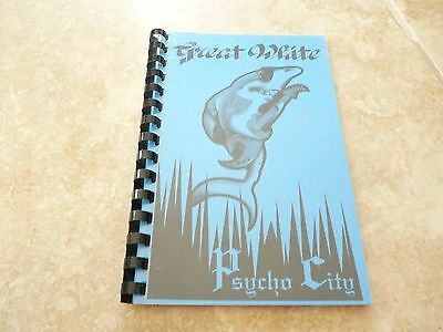 Great White 1992 Psycho City 1992 RARE EARLY Band Concert Tour Itinerary Book #8