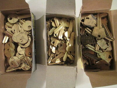 Lot of 3  boxes of Key Blanks ,    New