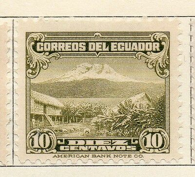 Ecuador 1934-35 Early Issue Fine Mint Hinged 10c. 113524