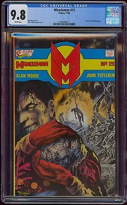 Miracleman #15 Cgc 9.8 Classic Death Kid Miracleman Issue Alan Moore Eclipse