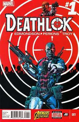 Deathlok (2014 series) #1 in Near Mint + condition. FREE bag/board