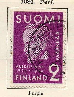 Finland 1934 Early Issue Fine Used 2m. 113624