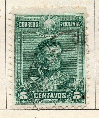 Bolivia 1899-1901 Early Issue Fine Used 5c. 113745