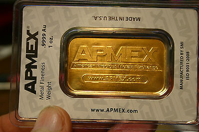 Apmex Gold Bar, .9999 Gold Content 1Oz In Sealed Assay Tep