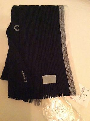 """Bnwt Armani 100% Virgin Wool Knitted Scarf From 3 Months 40"""" Long Tag Price £67"""