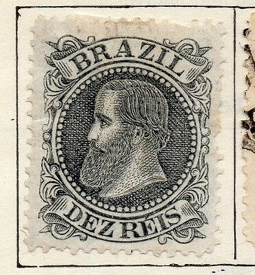 Brazil 1881 Early Issue Fine Mint Hinged 10r. 113189