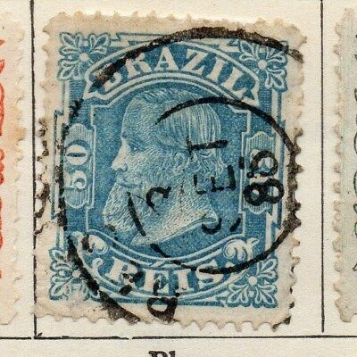 Brazil 1881 Early Issue Fine Used 50r. 113191