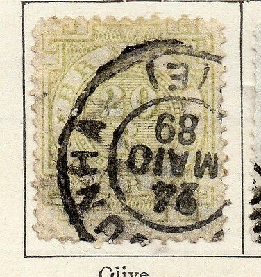 Brazil 1884 Early Issue Fine Used 20r. 113196