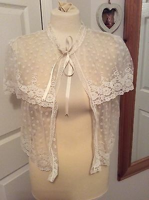 Vintage lace bed jacket